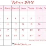 Calendarios para organizar tu mes de Febrero