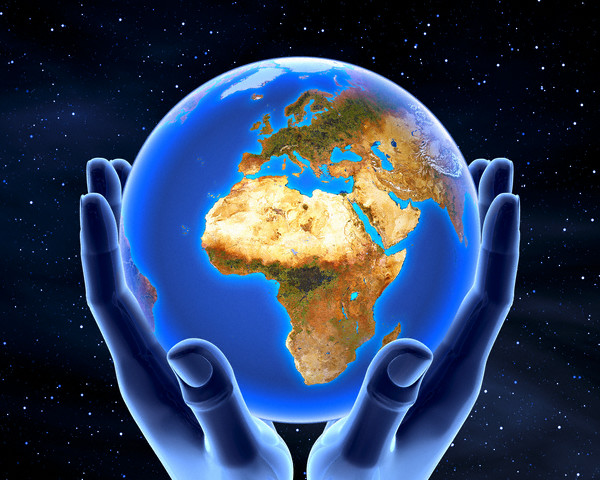 Hands Holding Earth