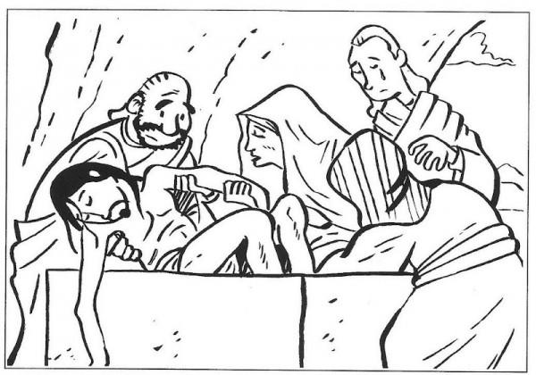 En La Ultima Cena Para Colorear Dibujos Cristianos Para