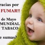Tarjetas contra los cigarrillos: Día Mundial contra el Tabaquismo 31 de mayo
