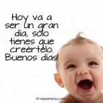 """Imágenes tiernas de bebés con frases de """"Buenos Días"""" para Whatsapp"""