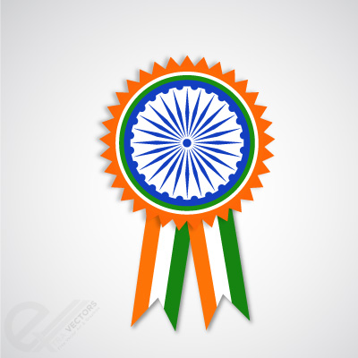 indian-independence-day-badge-and-ribbon-vector-26022