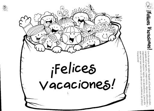Dibujos de Felices Vacaciones para imprimir y colorear ...