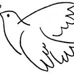 Postales del Dia de la Paz para colorear