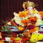 Imagenes de la procesion de Ganesh Chaturthi