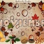 Tarjetas y postales para recibir al mes de noviembre
