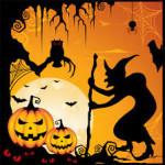 Postales de dulce o truco para Halloween