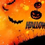 Postales de Halloween con calabazas