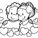 Postales de San Valentin con corazones