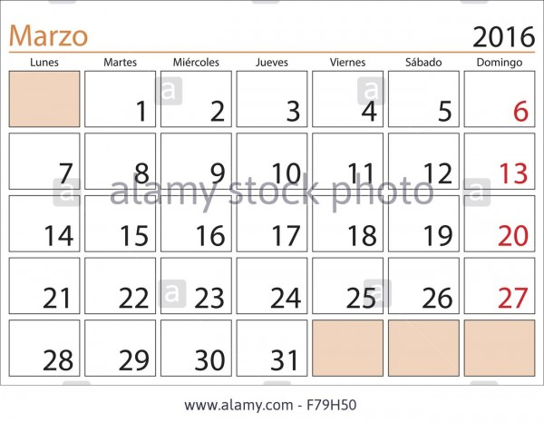 march-month-in-a-year-2016-calendar-in-spanish-marzo-2016-calendario-F79H50