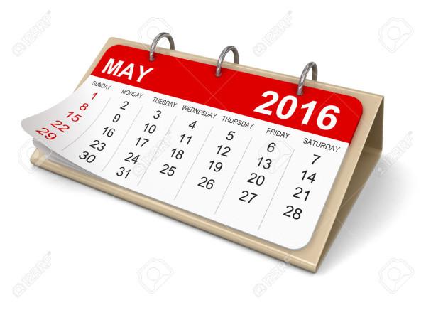 mayo44099394-Calendario-puede-2016-trazado-de-recorte-incluidos-Foto-de-archivo