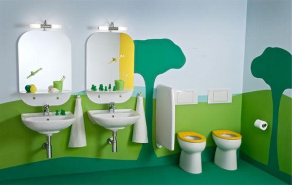 Hermosas ideas para decorar el cuarto de baño de los niños de la
