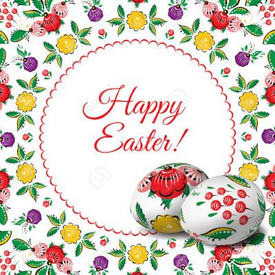 pascua37119599-Huevos-de-Pascua-Marco-popular-redondo-del-vector-Feliz-Pascua-Los-objetos-vectoriales-3D-Huevos-de--Foto-de-archivo