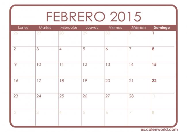 Calendario-FEBRERO-2015-imprimir