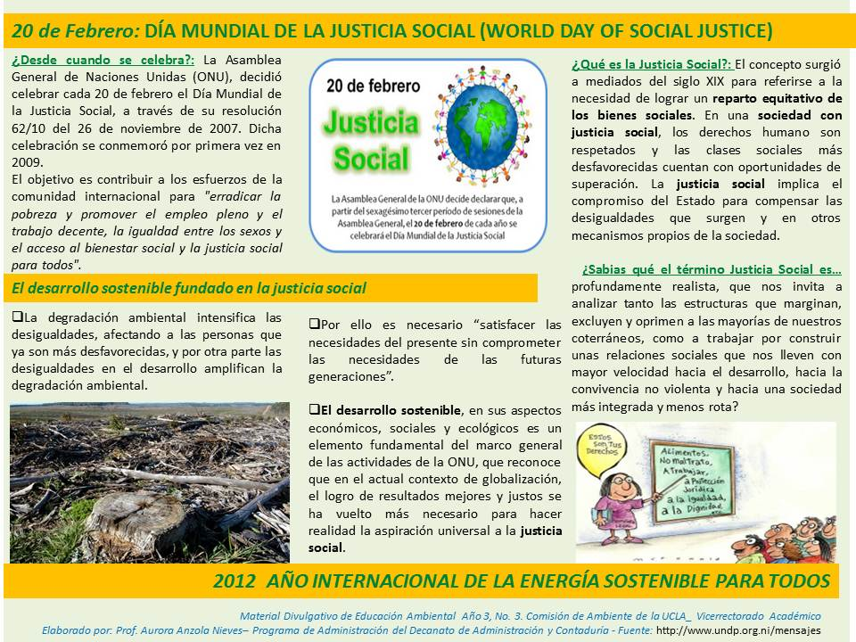 Día de la Justicia Social