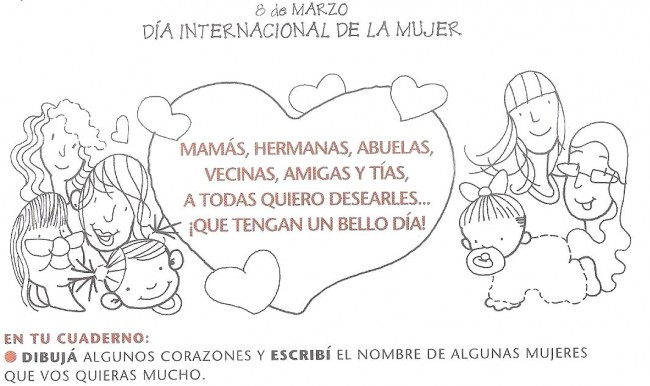 Imagenes Y Tarjetas Para Colorear En El Dia De La Mujer Todo Imágenes