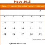 Mes de mayo 2016: Calendarios en imágenes para descargar en mayo