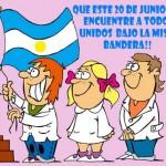 Primer celebracion del dia la bandera