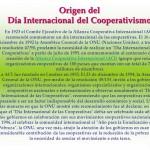 Las Naciones Unidas y el Dia de las Cooperativas