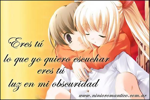 Imagenes Tiernas De Anime Con Frases De Amor Para Compartir Todo