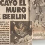 Caída del Muro de Berlin y un nuevo mundo