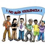 Postales con frases contra la violencia