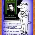José Manuel Estrada y el día del profesor