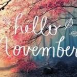 Postales en ingles para recibir al mes de Noviembre