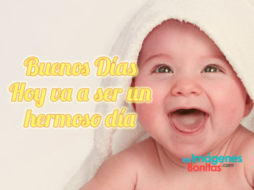 Imágenes Tiernas De Bebés Con Frases De Buenos Días Para