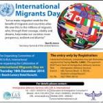 Dia del migrante y proteccion de derechos