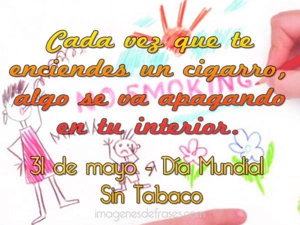 D a mundial sin tabaco por un espacio libre de humo for Cuarto dia sin fumar