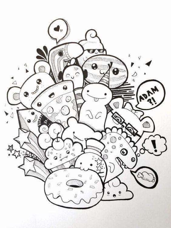 Imágenes Kawaii Dibujos Para Colorear Tiernos Y Bonitos