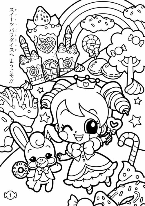 Imágenes kawaii dibujos para colorear tiernos y bonitos – Todo imágenes