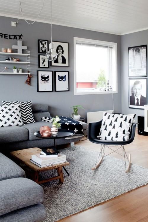 Decoración de salas modernas pequeñas y grandes (90 imágenes