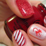 Uñas decoradas con diseños navideños super lindos