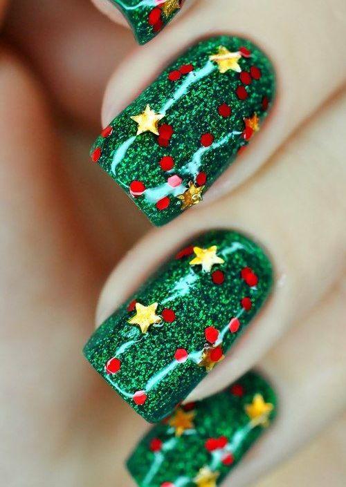 Uñas decoradas con diseños navideños super lindos – Todo imágenes
