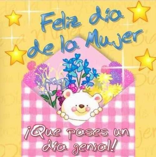 Imagenes Con Mensajes Para Felicitar El Dia De La Mujer Todo Imagenes Un abrazo de peluche lindo deseando feliz cumpleaños! para felicitar el dia de la mujer